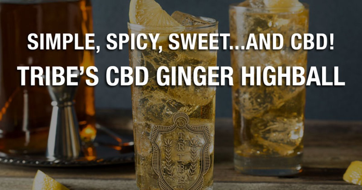 Simple, spicy, sweet ... and CBD!  - Tribes CBD ginger highball